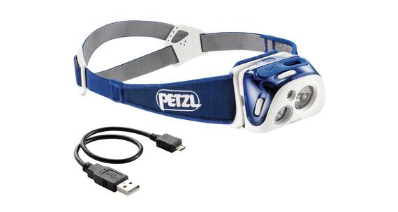 Petzl Reactik hoofdlamp blauw